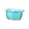 Felli Duo Fresh Keeper 480ml Fridge Storage Container - Blue