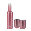 Oasis 3 Piece Stainless Steel Insulated Wine & Cup Set - Rose Gold