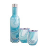 Oasis 3 Piece Patterned Stainless Steel Insulated Wine & Cup Set