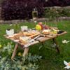Peer Sorensen Rectangular Small Folding Picnic Table - Acacia Wood