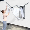 brabantia 24m WallFix Wall Mounted Clothes Dryer with Stainless Steel Storage Box