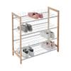 Howards 4 Tier Bamboo Shoe Rack - White