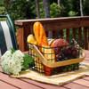 Storage Basket with Wooden Handle
