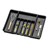 madesmart 8 Compartment Expandable Cutlery Tray - Carbon