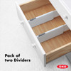OXO Good Grips Expandable Dresser Drawer Dividers 2 Pack