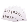 Appetito Clear Vinyl Pantry Labels - 60 Pack