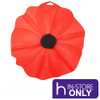Poppy Lid Food Cover 28cm - Red