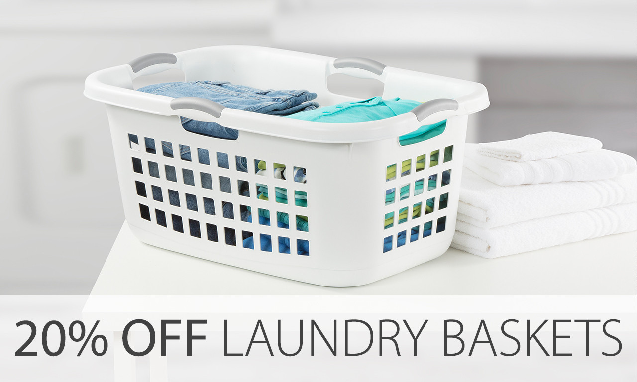 sterilite laundry baskets