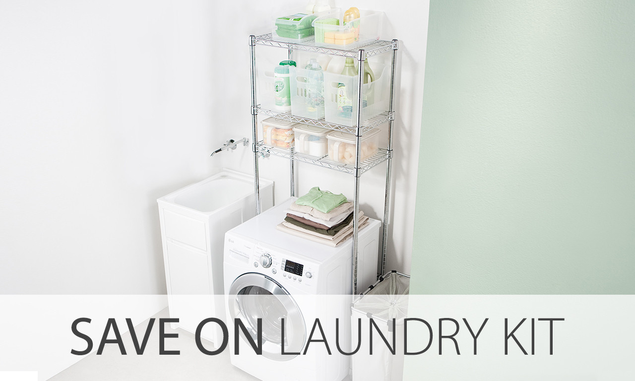 laundry shelving kit