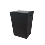Faux Leather Knockdown Laundry Hamper - Black