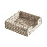 Rattan Napkin Holder - White