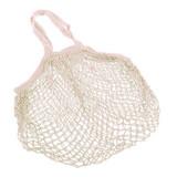 Cotton String Bag Long Handle - Natural