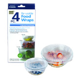 Reusable Silicone Food Wraps - Set of 4