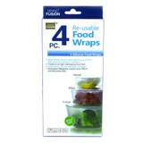 Reusable Silicone Food Wraps - Set of 4