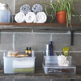 madesmart Bathroom Vanity Stackable Angled Bin - Clear