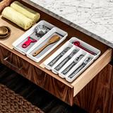 madesmart Mini 2 Compartment Utensil Tray - White