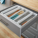 madesmart 5 Compartment Expandable Utensil Tray - White