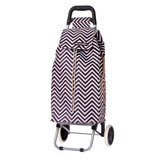 Shop & Go Sprint Shopping Trolley - Chevron Stripe