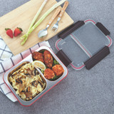 Oasis Stainless Steel 2-Compartment Lunch Box - Turquoise