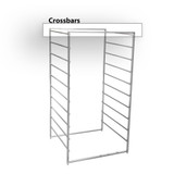 elfa Drawer System 45 Basic Crossbar Kit for Frame 4-Piece - Platinum