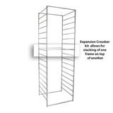 elfa Drawer System 55 Basic Crossbar Expansion Kit for Frame 2-Piece - White
