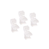 elfa Drawer System Wire Shelf Clip 4-Piece - Clear