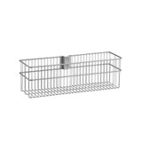 elfa Utility Door and Wall Rack Wire Basket Large - Platinum