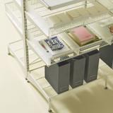 elfa 40 Wire Shelf 450mm Width - White