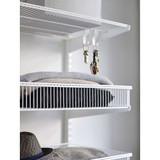 elfa 30 Wire Shelf Basket 450mm Width - White