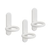 elfa Utility Pegboard Hook Circle 3-Pack - White