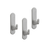 elfa Utility Pegboard Hook Short 3-Pack - Platinum