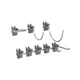 elfa Utility Pegboard Hook Assorted 8-Pack - Grey