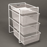 Elfa Basics White Mesh Drawer & Frame Set 74-45