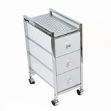 Slim 3 Drawer Cabinet Trolley White