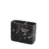 Marble Look Bathroom Toothbrush Holder - Black
