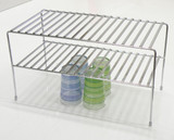 2 Tier Flat Wire Chrome Shelf