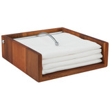 Davis & Waddell Acacia Wood Napkin Holder
