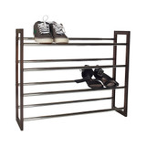 4 Tier Expandable Shoe Rack in Chocolate