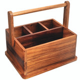 Davis & Waddell Acacia Wood BBQ Caddy