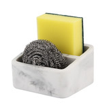 Marble Look Kitchen Sink Tidy - White