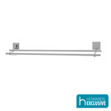 EvoVac Suction Bathroom Double Towel Rail 80cm - Chrome