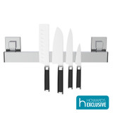 EvoVac Suction Kitchen Magnetic Knife Rack - Chrome
