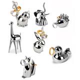 Umbra Zoola Ring Holders - Chrome Assorted