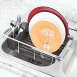 iDesign Metro Expandable Rustproof Aluminum Over-The-Sink Dish Drainer
