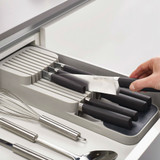 Joseph Joseph DrawerStore Compact Knife Drawer Organiser - Grey