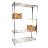 easy-build 4 Shelf Unit 180cm - Silver