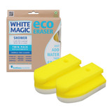 White Magic 2 Pack Shower Eraser Replacements