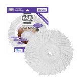 White Magic Spin Mop Microfibre Refill