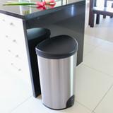 White Magic Smart Bin 50L - Fingerprint Proof Stainless Steel