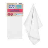White Magic Eco Cloth Tea Towel - Snow
